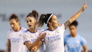 Claudia Zornoza celebra el gol que clasificó al Real Madrid para la Champions (Getty).