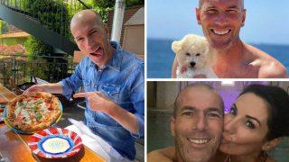 Algunas de las instantáneas compartidas por Zidane este verano