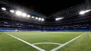 El Santiago Bernabéu, la noche antes del partido contra el Celta.