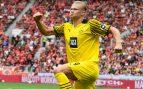 Haaland es insaciable: doblete y asistencia en la remontada del Dortmund