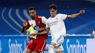 Miguel Gutiérrez, en un partido contra el Celta. (Realmadrid.com)