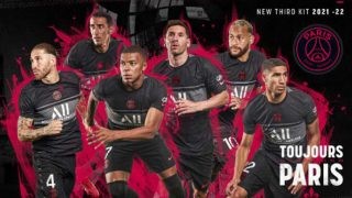 Imagen con la que el PSG ha presentado su tercera camiseta