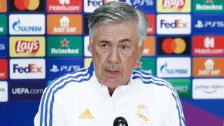 Ancelotti, durante una rueda de prensa. (Realmadrid.com)