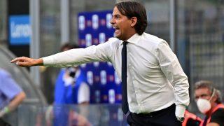 Simone Inzaghi, durante un partido del Inter. (AFP)