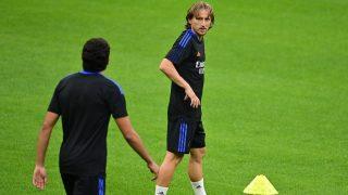 Modric, durante un entrenamiento. (AFP)