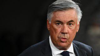 Ancelotti, en un partido con el Real Madrid. (AFP)