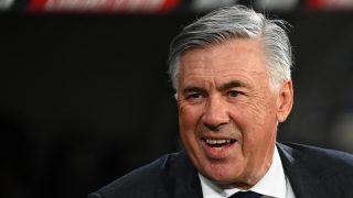 Carlo Ancelotti, durante un partido del Real Madrid (AFP).