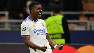 Rodrygo celebra el gol marcado ante el Inter (AFP).