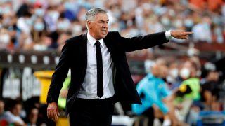Carlo Ancelotti, durante el partido del Real Madrid ante el Valencia (EFE).