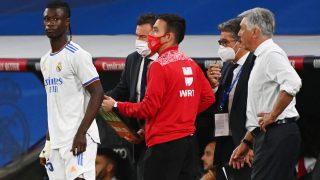 Camavinga, antes de debutar con el Real Madrid. (AFP)