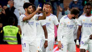 Asensio celebra uno de sus goles en el Real Madrid-Mallorca. (EFE)