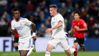 Antonio Blanco en un partido con el Real Madrid. (Realmadrid.com)