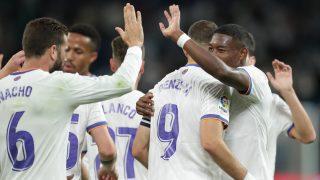 Los jugadores del Real Madrid celebran un gol ante el Mallorca. (Getty)