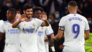 Los jugadores del Real Madrid celebran un gol ante el Mallorca (AFP).