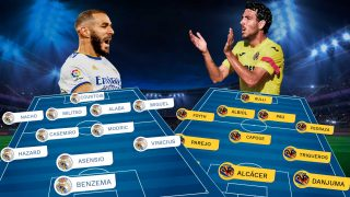 Real Madrid y Villarreal se enfrentan en el Bernabéu.