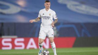 Kroos, durante un partido del Real Madrid. (AFP)