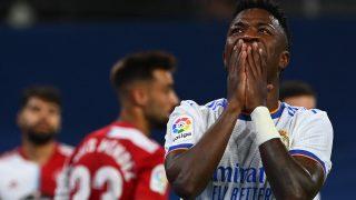 Vinicius, en un partido del Real Madrid. (AFP)