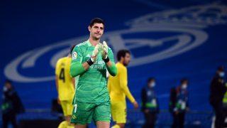 Courtois, tras el Real Madrid – Villarreal. (AFP)