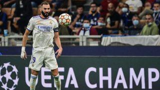 Benzema, en el debut en Champions League ante el Inter (AFP)
