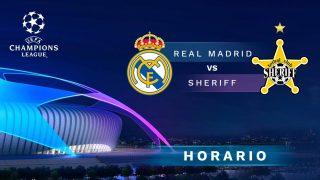 Real Madrid – Sheriff: jornada 2 de la Champions League.