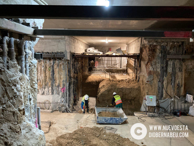 El nuevo Bernabéu a 10 metros de profundidad: así avanza la cueva del césped retráctil