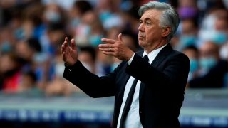 Ancelotti, durante un partido. (EFE)
