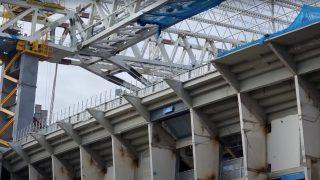 El nuevo Bernabéu está retirando parte del tercer anfiteatro de Padre Damián.