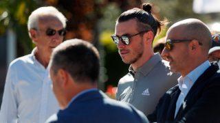 Bale, en el Open de España de Golf. (EFE)