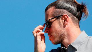 Gareth Bale, durante el Open de España de golf. (EFE)