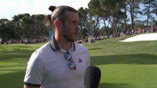 Gareth Bale, en una entrevista en el Open de España de golf.