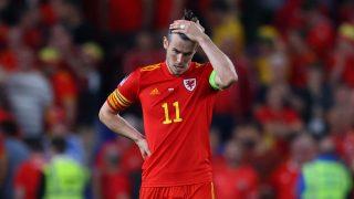 Gareth Bale durante un partido de Gales. (Getty)