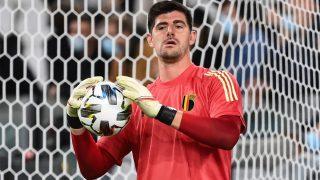 Thibaut Courtois, durante un partido de la Liga de Naciones con Bélgica. (AFP)
