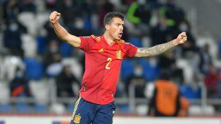 Pedro Porro, en un partido con la selección española. (Getty)