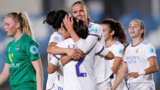 El Real Madrid celebra un gol en la Champions. (Realmadrid.com)