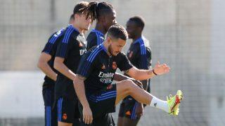 Hazard y Camavinga se entrenan con el grupo.