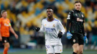 Vinicius celebra un gol con el Real Madrid. (Realmadrid.com)
