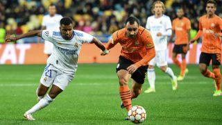 Rodrygo durante un partido de Champions. (AFP)