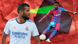 Nacho será el responsable de cubrir a Ansu Fati en el Clásico entre Barcelona y Real Madrid.