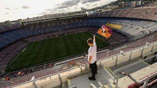El Camp Nou vacío antes de un partido. (Getty)