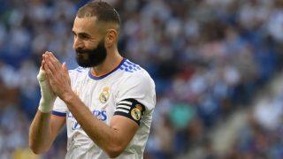 Karim Benzema, durante un partido con el Real Madrid. (AFP)