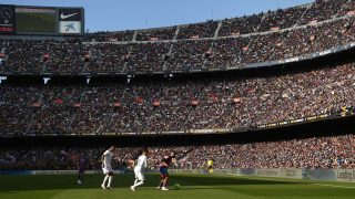 Imagen del Camp Nou durante el Clásico. (Getty)