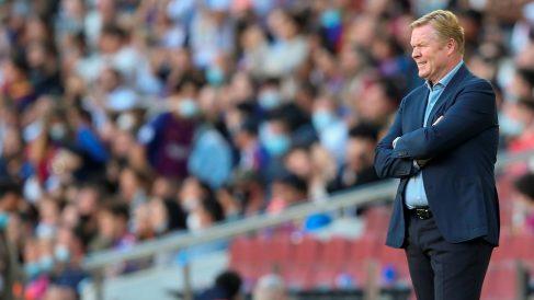 Koeman, durante un partido del Barcelona. (EFE)