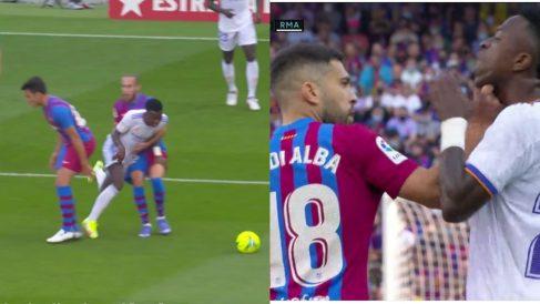 Vinicius fue una pesadilla para la defensa del Barça.