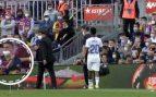 Vinicius recibiendo insultos del Camp Nou.
