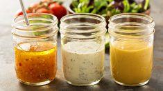 Receta de 5 aderezos rápidos y ligeros para ensaladas