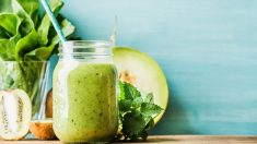 receta de batido cremoso o smoothie de melón
