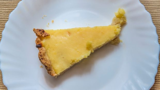 tarta de cuajada al aroma de limón