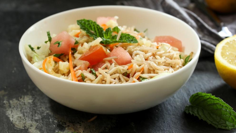 Ensalada de arroz al curry