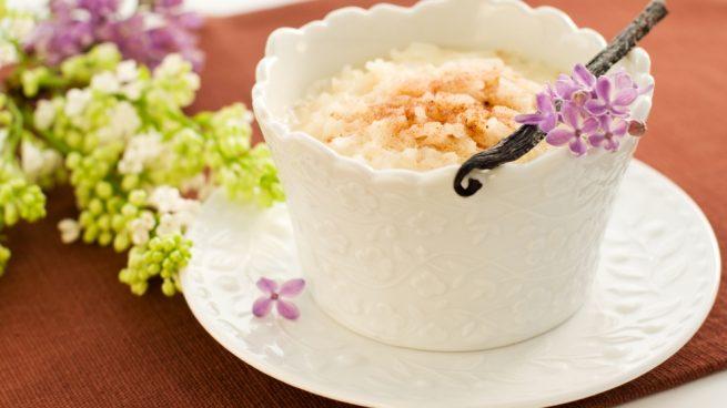 arroz con leche al aroma de vainilla