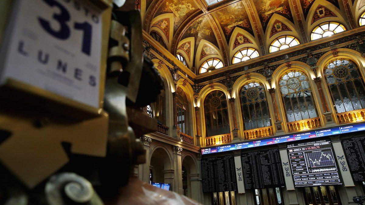 Interior de la Bolsa de Madrid (Foto. Efe)